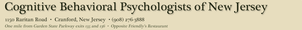 Cognitive Behavioral Psychologists of New Jersey